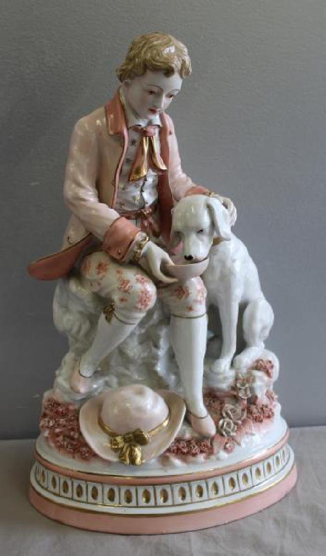 Pair of Porcelain Figures of Children with - 8