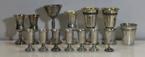 SILVER. Assorted Grouping of Kiddush Cups and