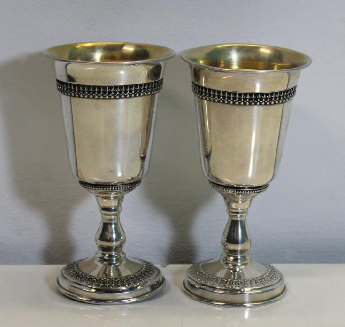 SILVER. Assorted Grouping of Kiddush Cups and - 4