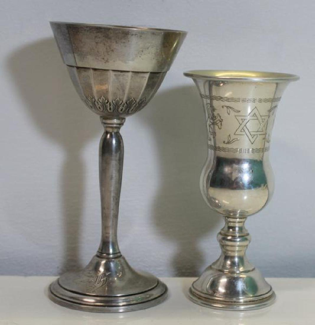 SILVER. Assorted Grouping of Kiddush Cups and - 5