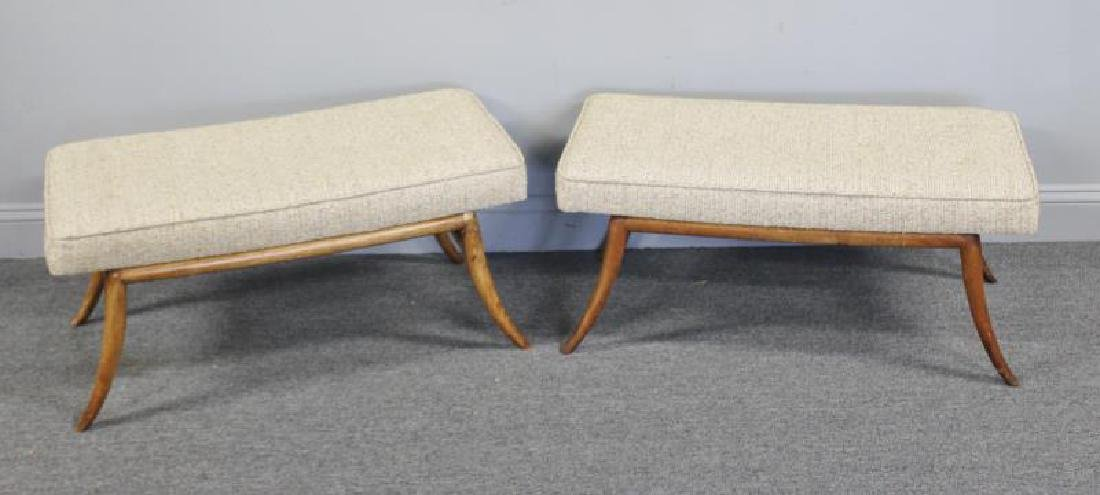 Midcentury Pair of Robsjohn-Gibbings Benches.