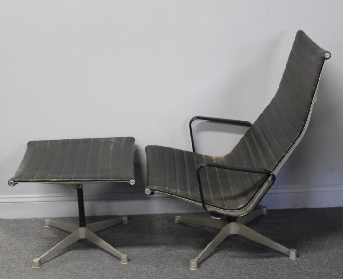 Eames Alumnium Group Chair and Ottoman. - 4