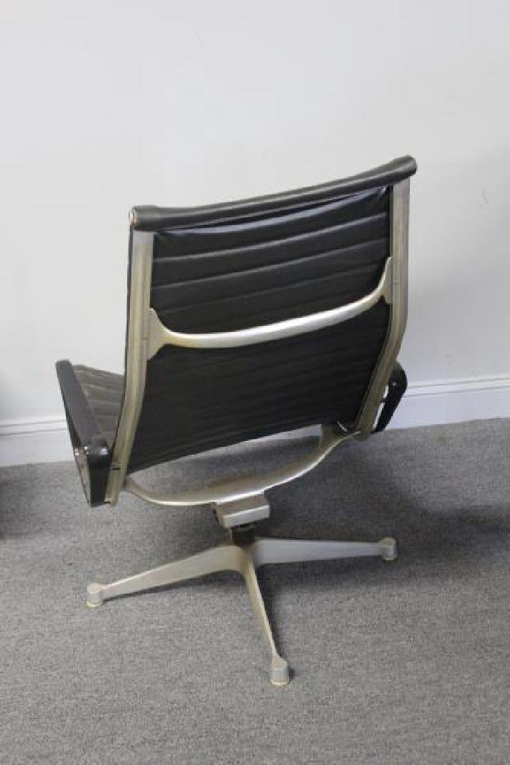 Eames Alumnium Group Chair and Ottoman. - 5