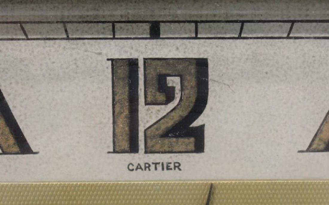 Cartier Desk Clock. - 3