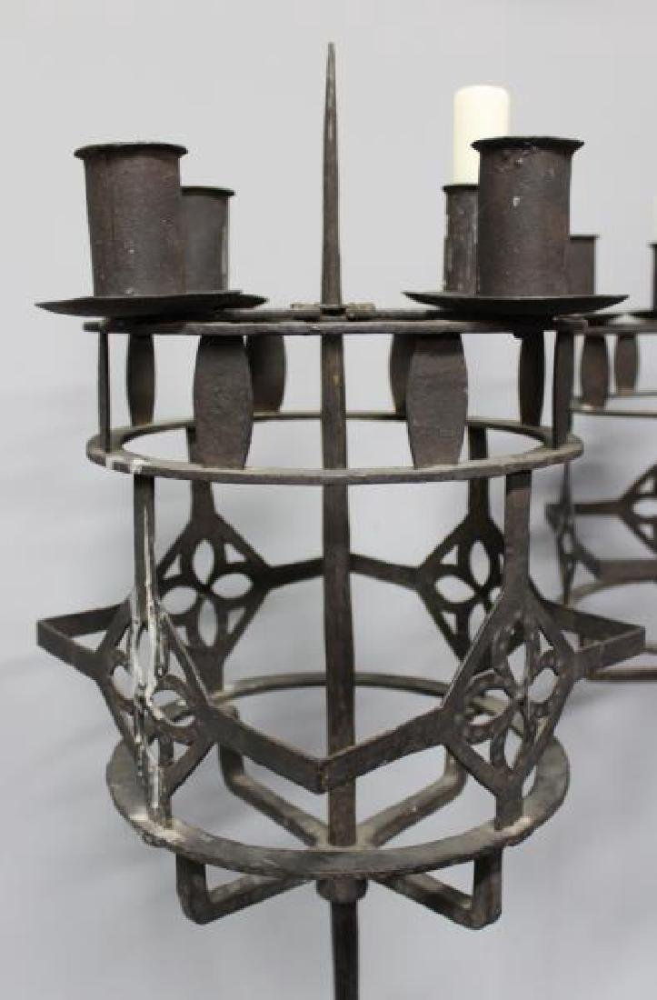 Pair of Wrought Iron Torchieres. - 3
