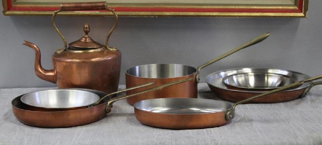 Lot of Vintage Copper Cooking Cookware.
