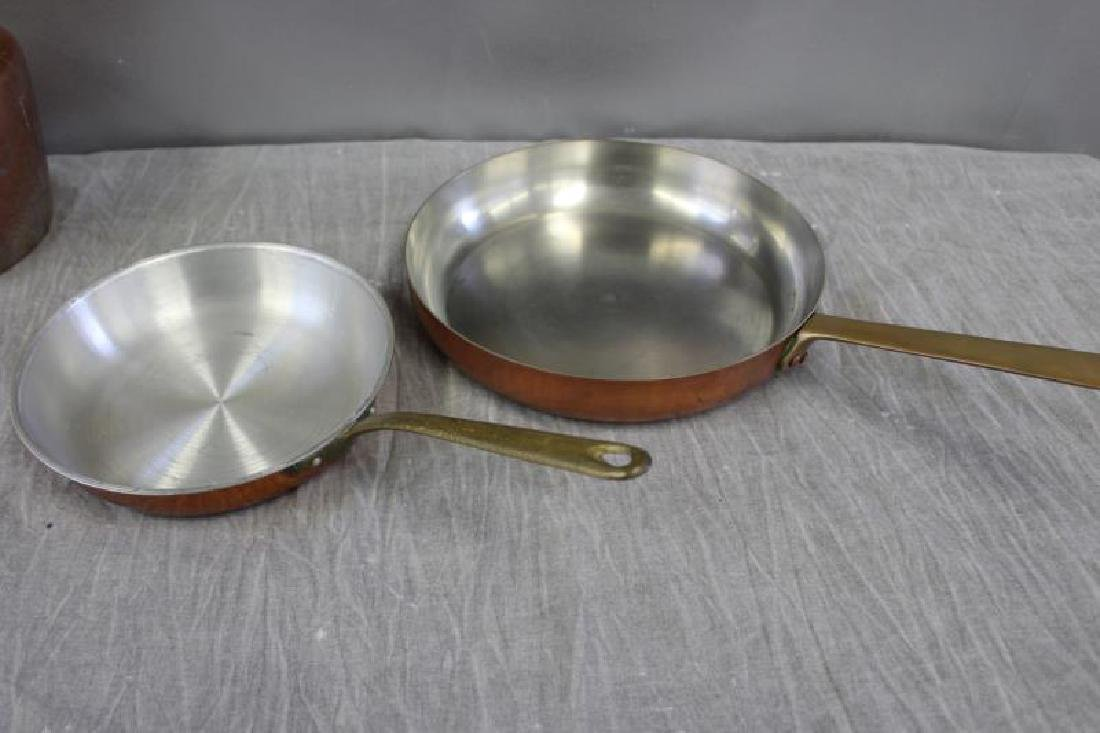 Lot of Vintage Copper Cooking Cookware. - 6