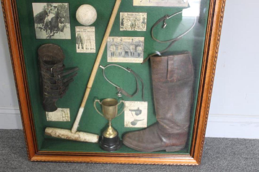 Shadow Box of Assorted Equestrian Collectibles. - 2