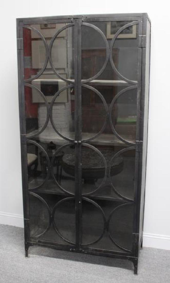 Decorative Industrial Style Metal Cabinet.
