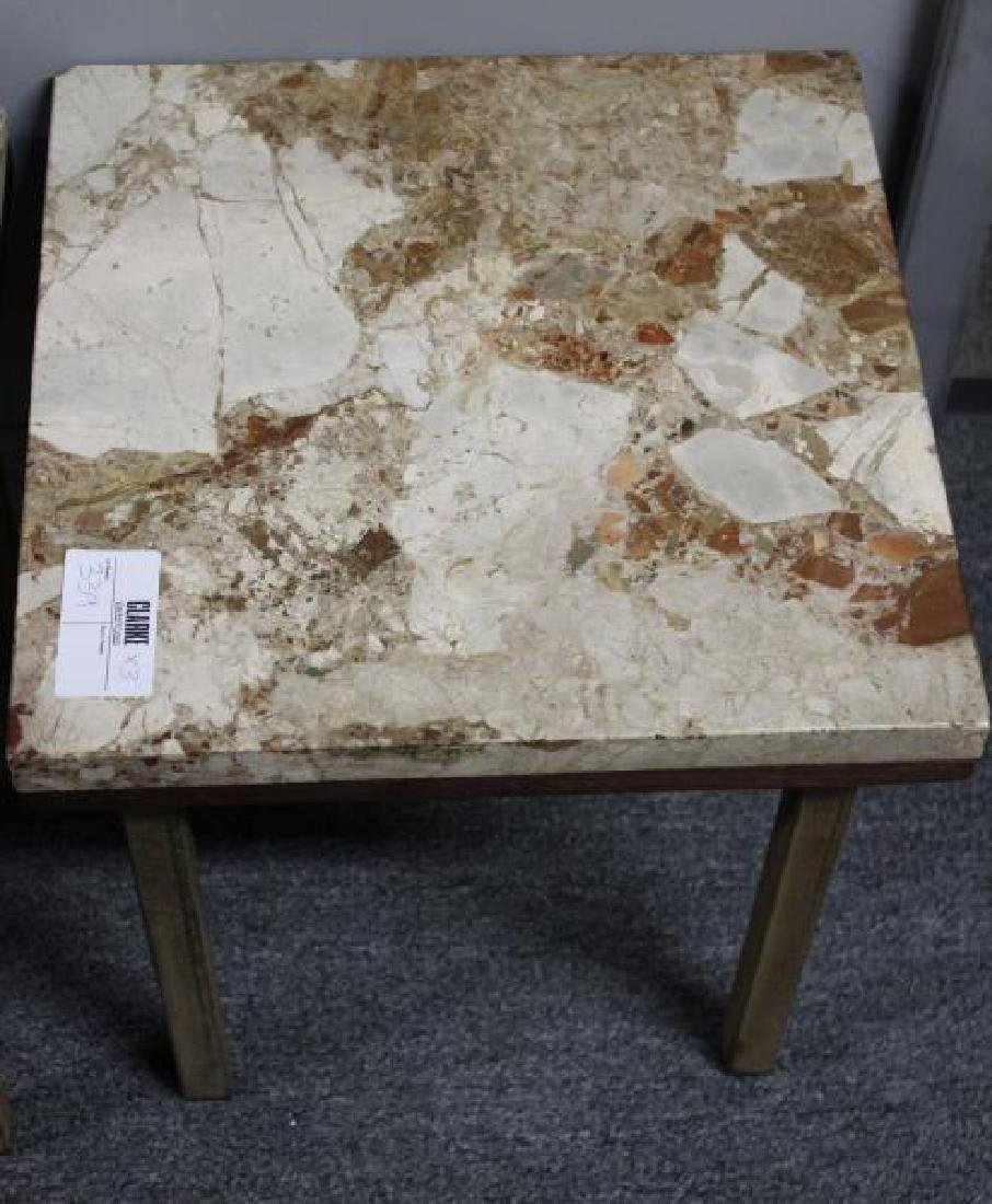 Pair of Marbletop Midcentury End Tables Together - 4