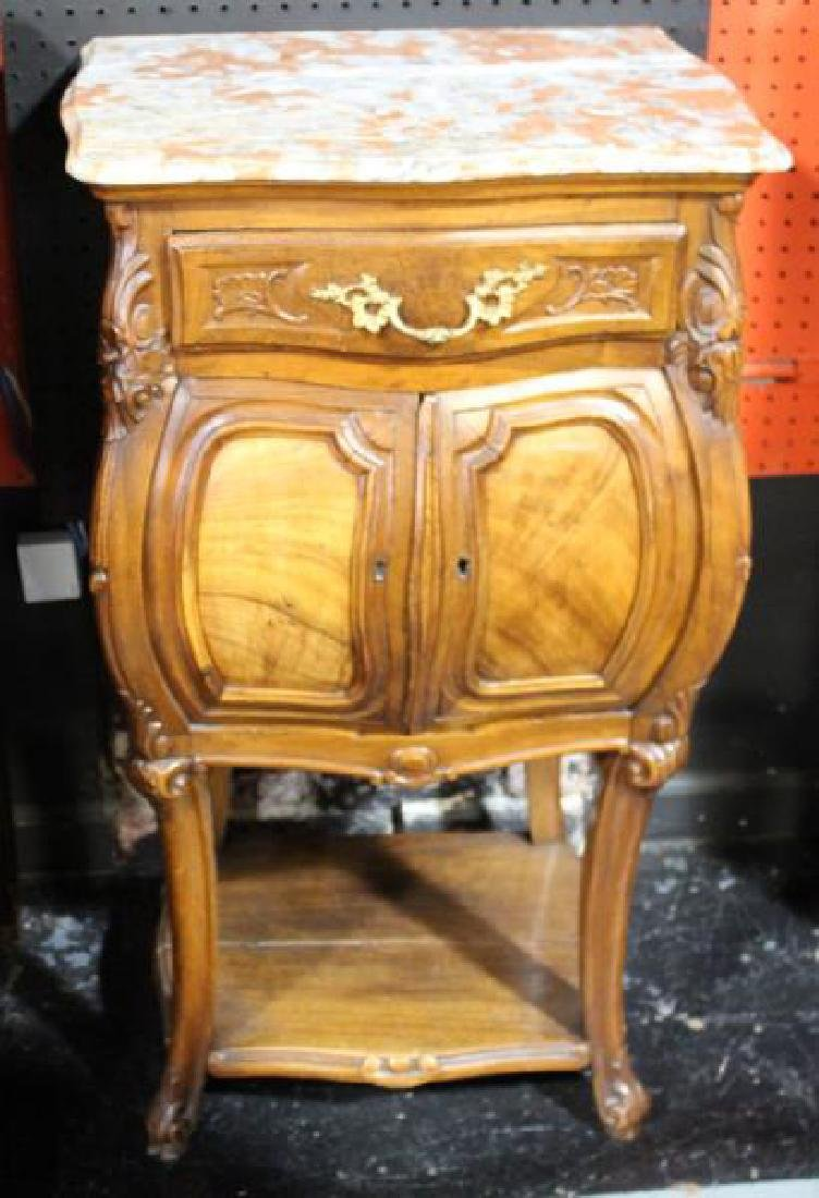 Marble Top Stand.