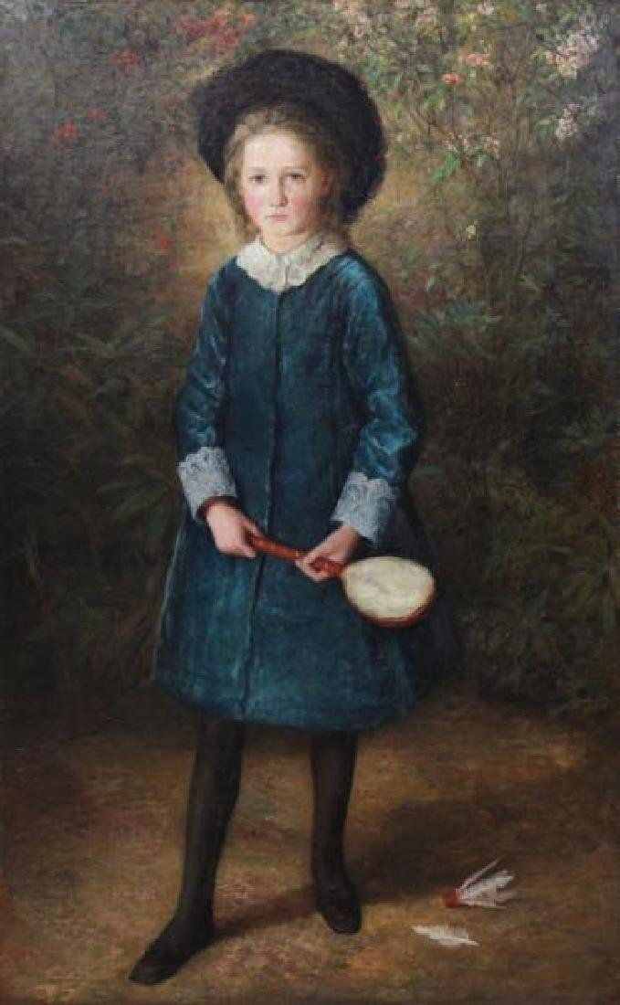 English School. 19th C. Oil on Canvas. Portrait of