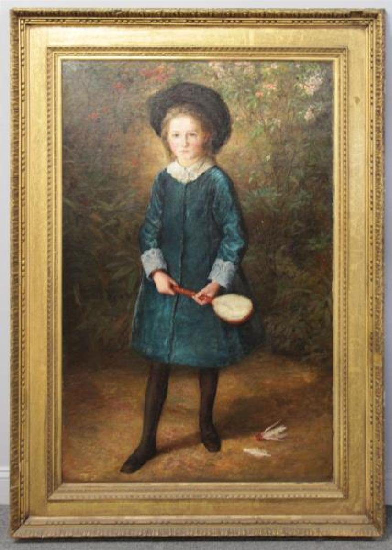 English School. 19th C. Oil on Canvas. Portrait of - 2