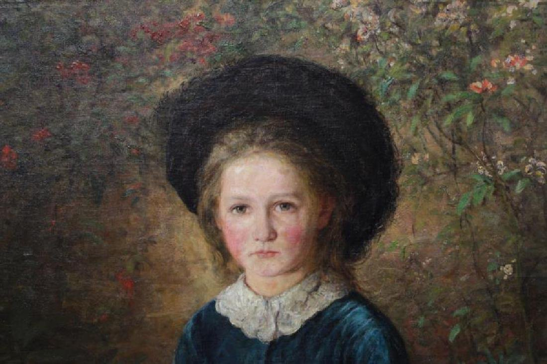 English School. 19th C. Oil on Canvas. Portrait of - 4