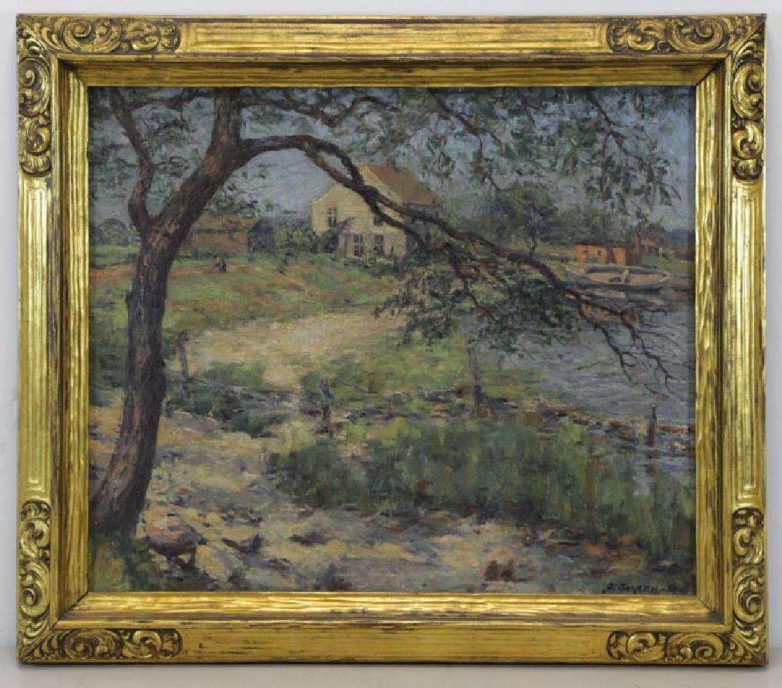 JOSEPH, Julian. Oil on Canvas. Lakeside Cottages - 2