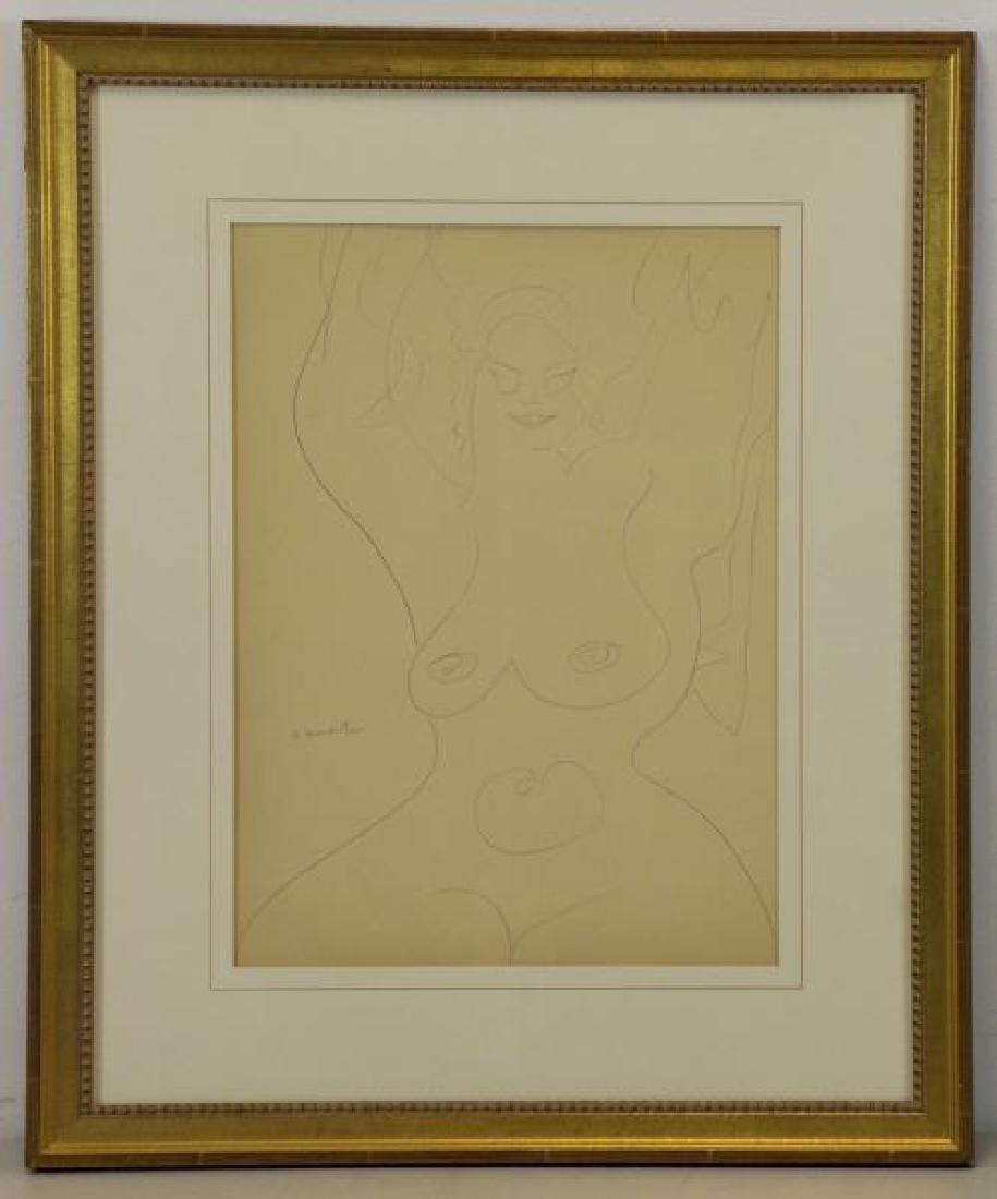 LACHAISE, Gaston. Pencil on Paper. Female Nude. - 2