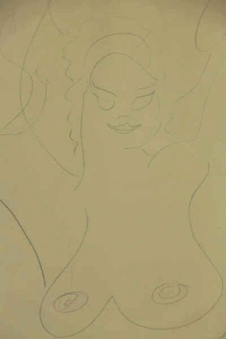 LACHAISE, Gaston. Pencil on Paper. Female Nude. - 3
