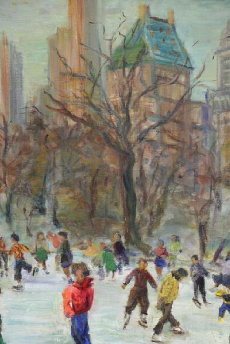 HOLTZMAN, Fanny. Oil on Canvas. Ice Skating in - 3