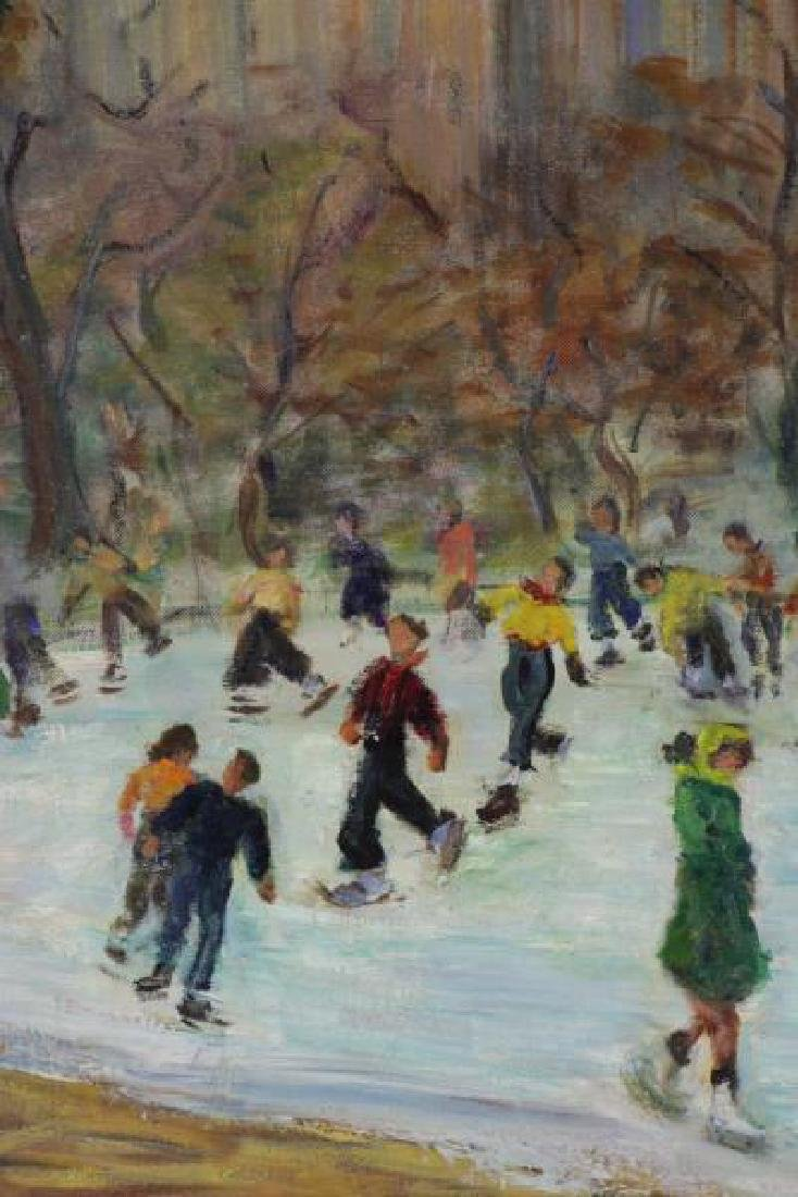 HOLTZMAN, Fanny. Oil on Canvas. Ice Skating in - 4