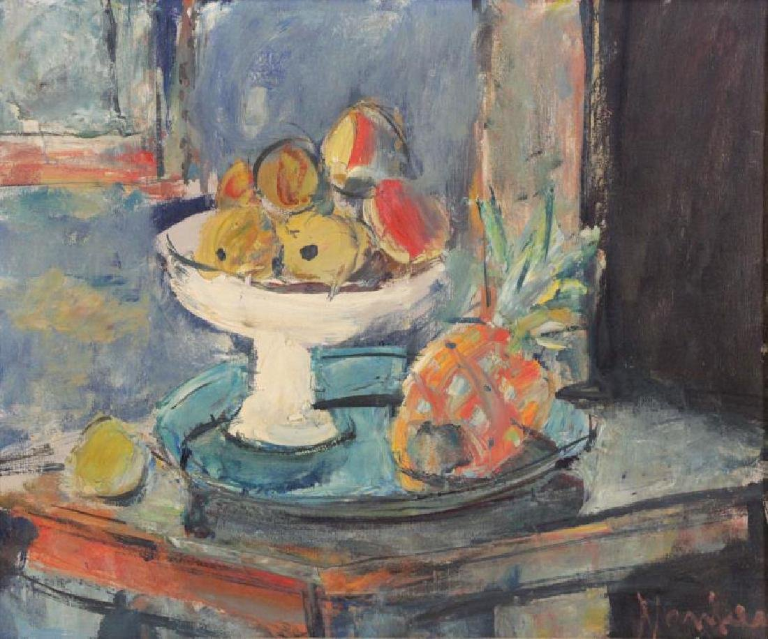 MENKES, Sigmund. Oil on Canvas. Still Life with