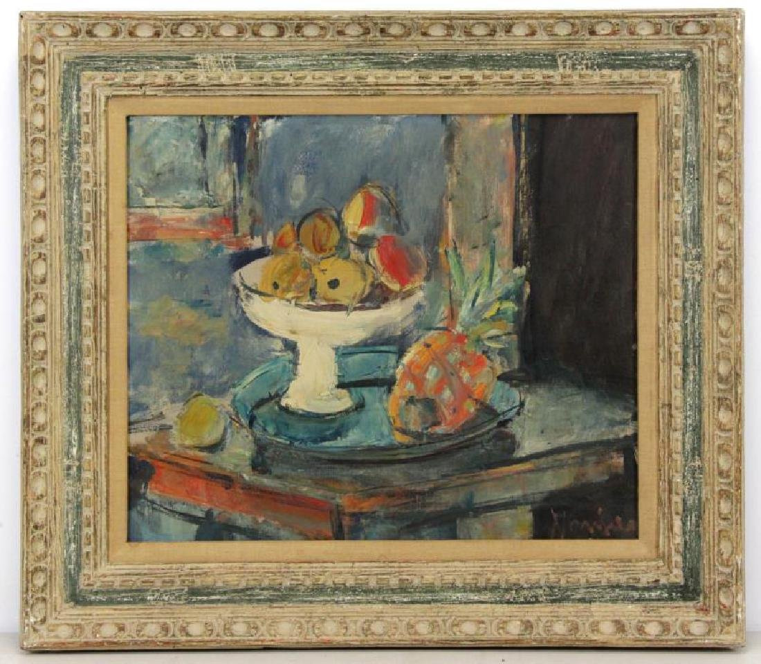 MENKES, Sigmund. Oil on Canvas. Still Life with - 2