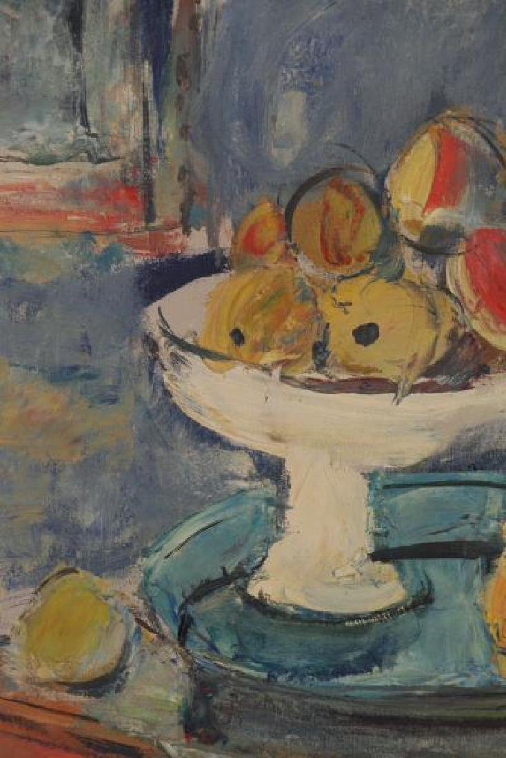 MENKES, Sigmund. Oil on Canvas. Still Life with - 3