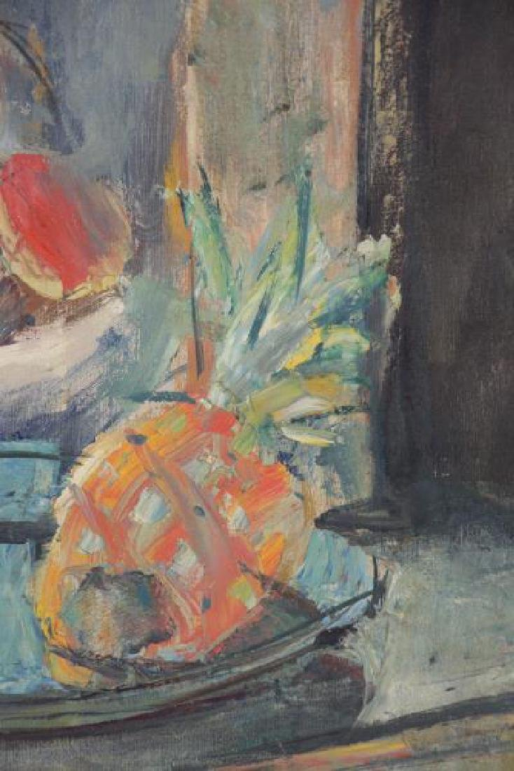 MENKES, Sigmund. Oil on Canvas. Still Life with - 4
