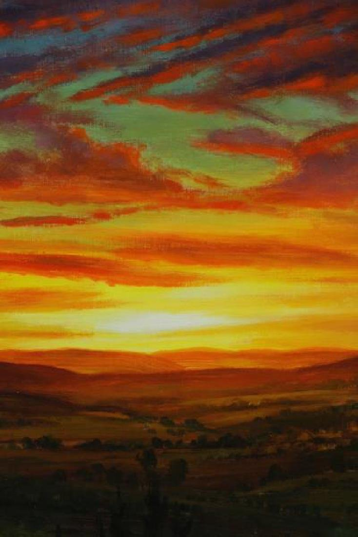 HORNAK, Ian. Oil on Board. Landscape at Sunset. - 3