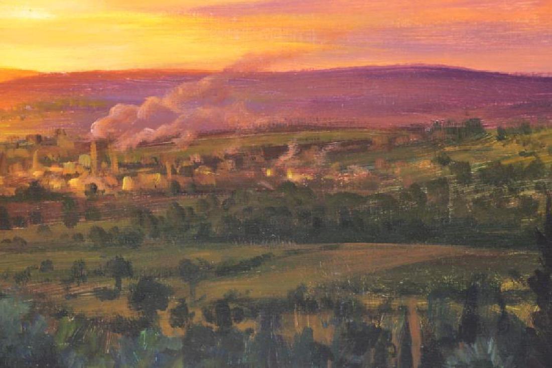 HORNAK, Ian. Oil on Board. Landscape at Sunset. - 4