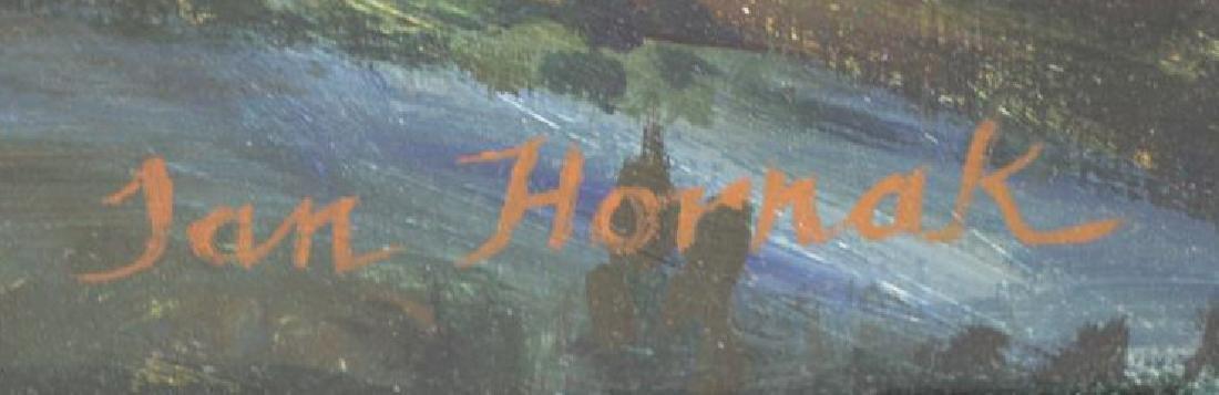 HORNAK, Ian. Oil on Board. Landscape at Sunset. - 5
