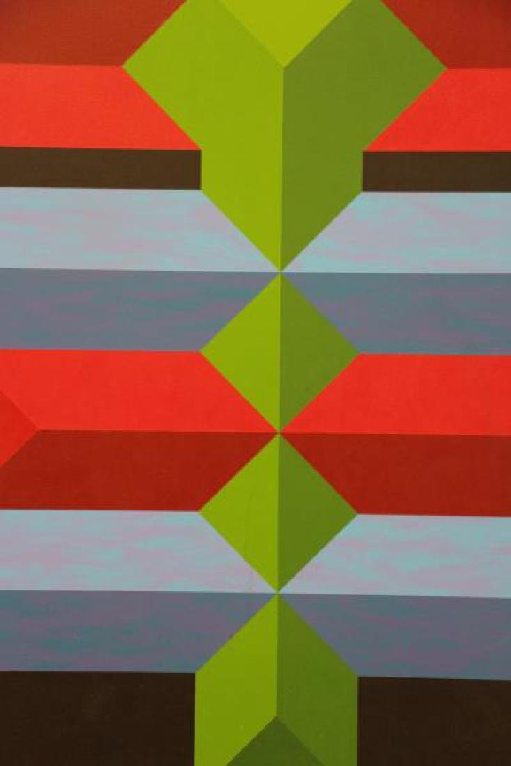 Mid 20th C. Oil on Canvas. Geometric Abstract - 3