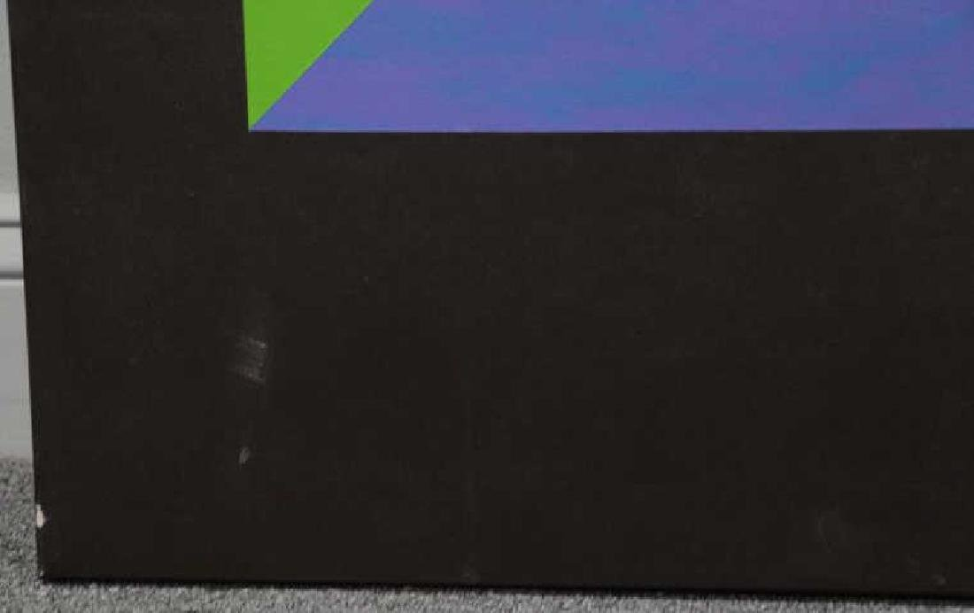 Mid 20th C. Oil on Canvas. Geometric Abstract - 4