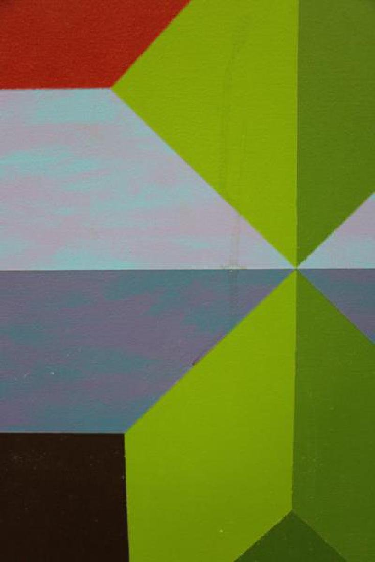 Mid 20th C. Oil on Canvas. Geometric Abstract - 5