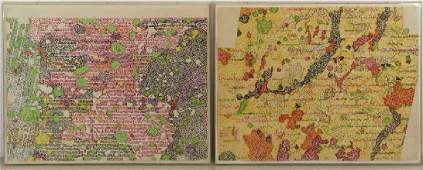 GRAVES, Nancy. Two 1972 Color Lithographs.