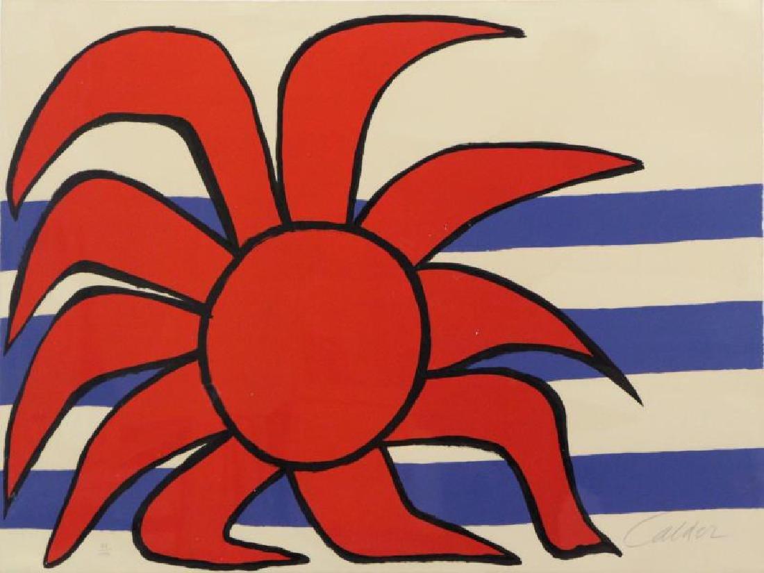 CALDER, Alexander. Lithograph. Sun and Sea.