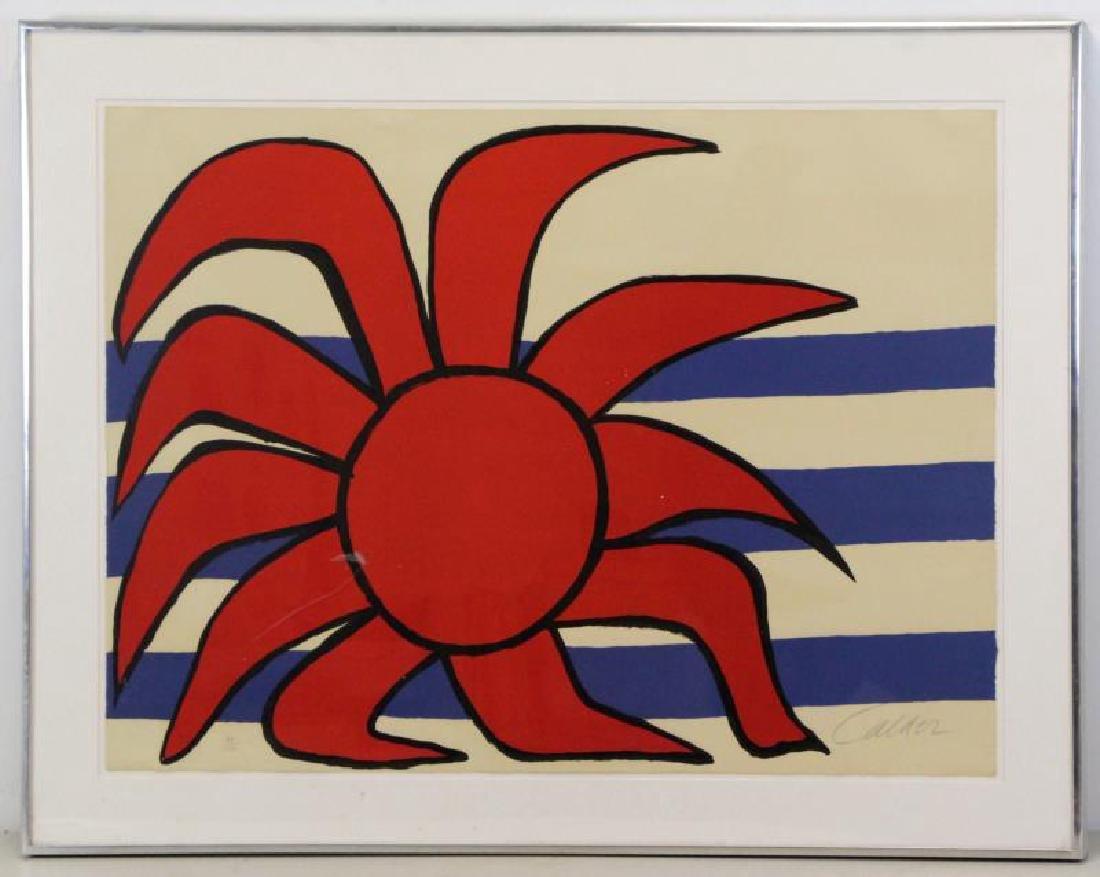 CALDER, Alexander. Lithograph. Sun and Sea. - 2