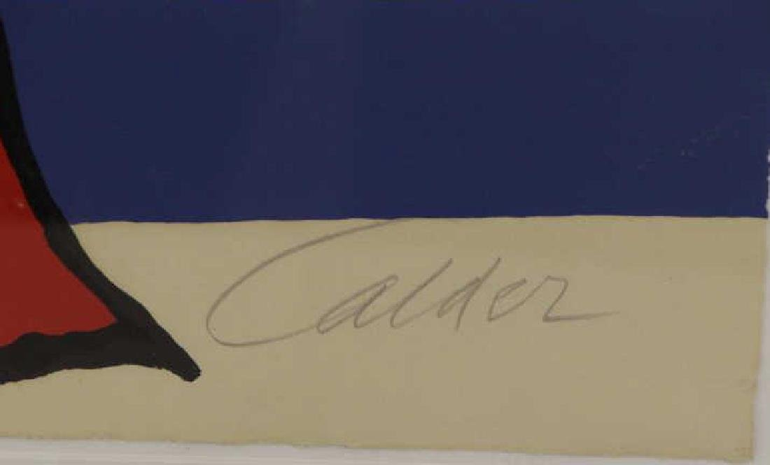 CALDER, Alexander. Lithograph. Sun and Sea. - 3