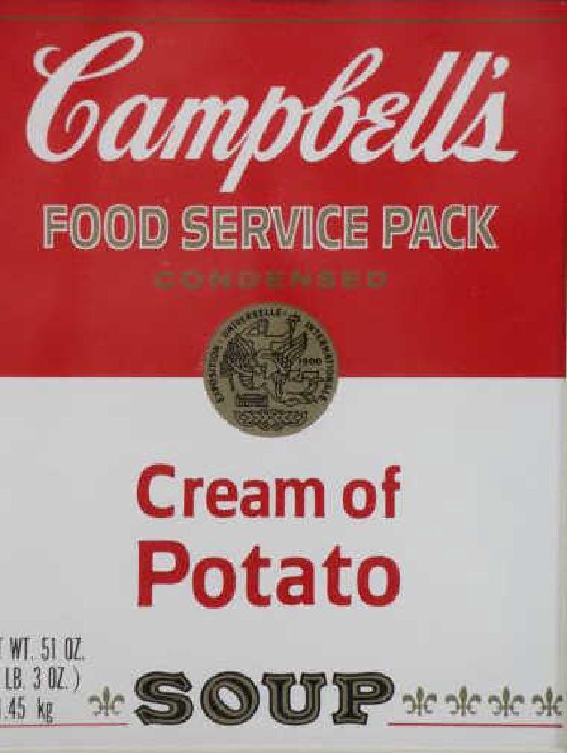 WARHOL, Andy. Signed Campbell's Cream of Potato - 4