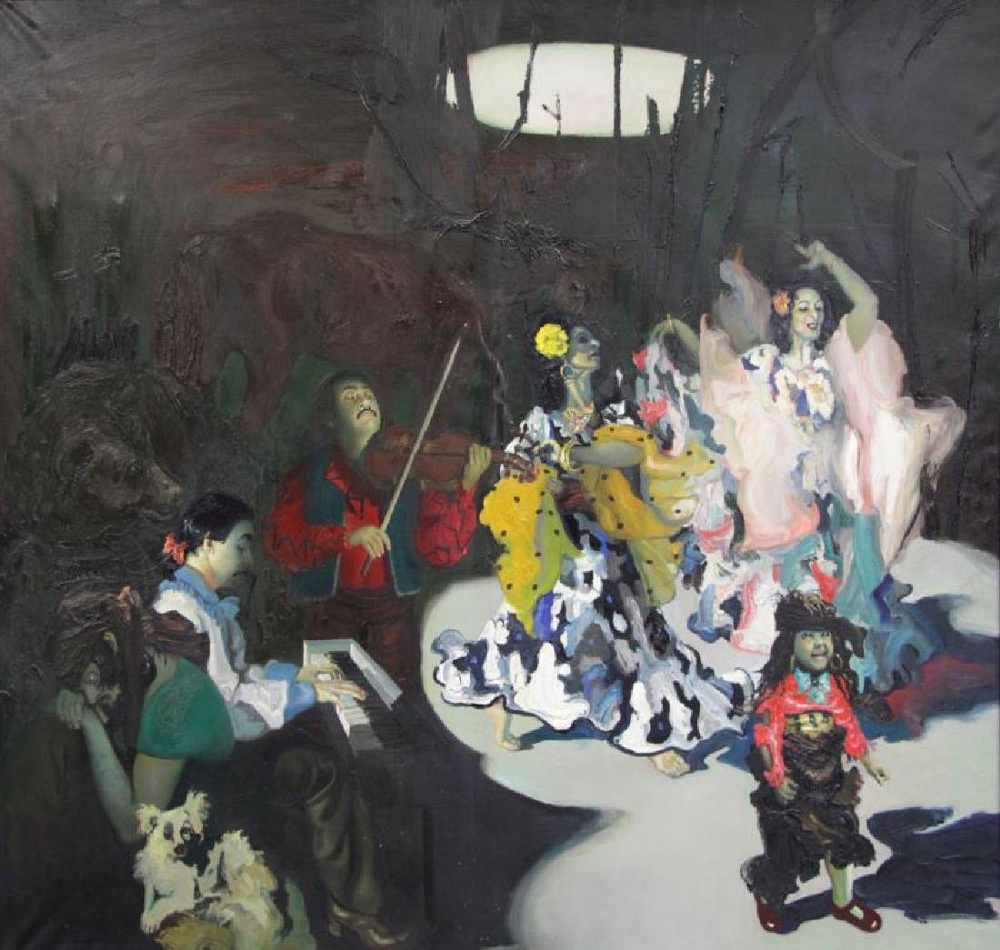 """TABAKA, Maija Nora. Oil on Canvas. """"The Gypsies in"""