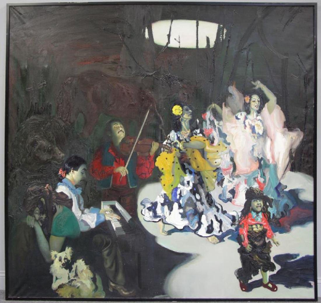 """TABAKA, Maija Nora. Oil on Canvas. """"The Gypsies in - 2"""