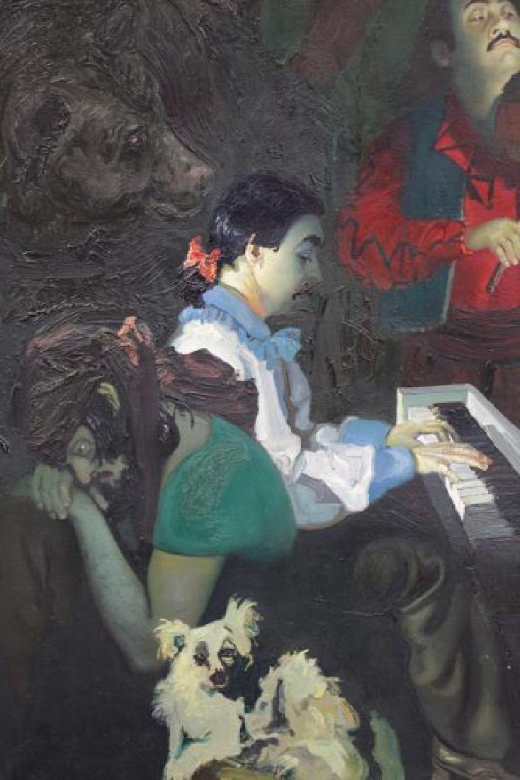 """TABAKA, Maija Nora. Oil on Canvas. """"The Gypsies in - 3"""
