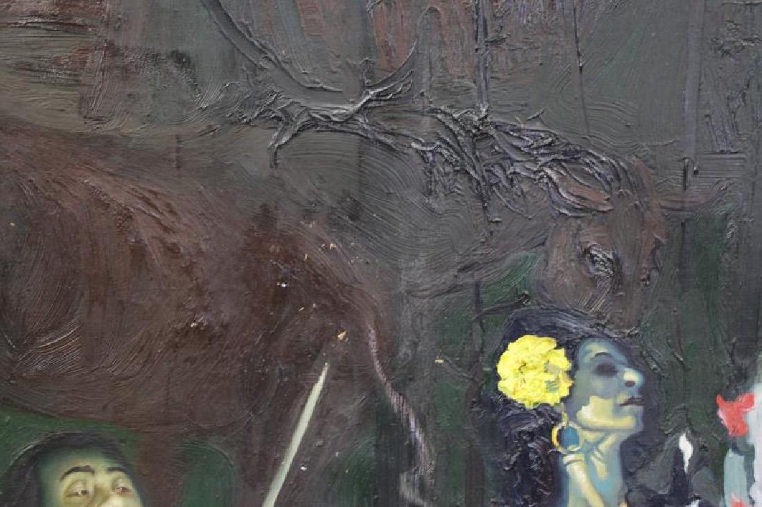"""TABAKA, Maija Nora. Oil on Canvas. """"The Gypsies in - 6"""