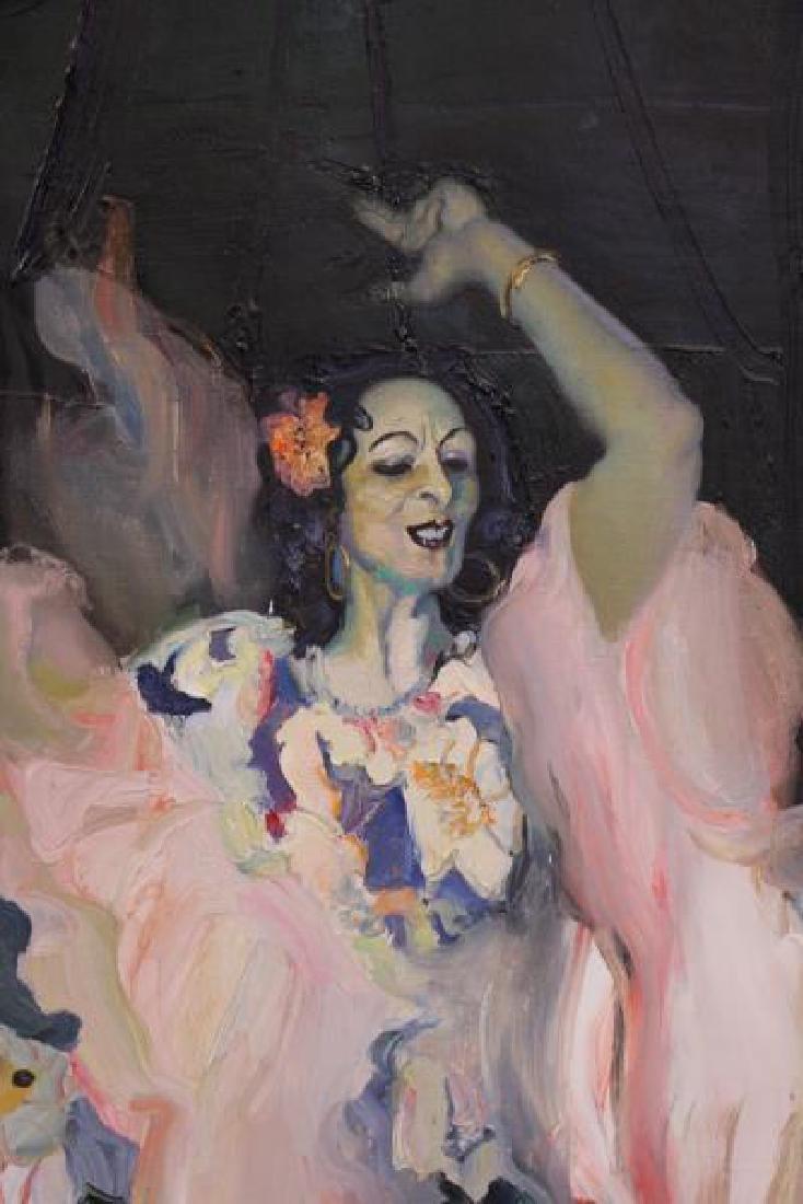 """TABAKA, Maija Nora. Oil on Canvas. """"The Gypsies in - 7"""