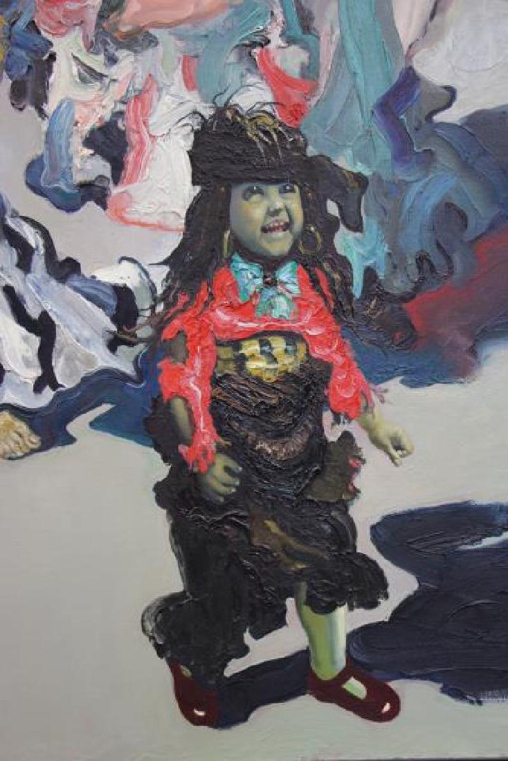"""TABAKA, Maija Nora. Oil on Canvas. """"The Gypsies in - 8"""