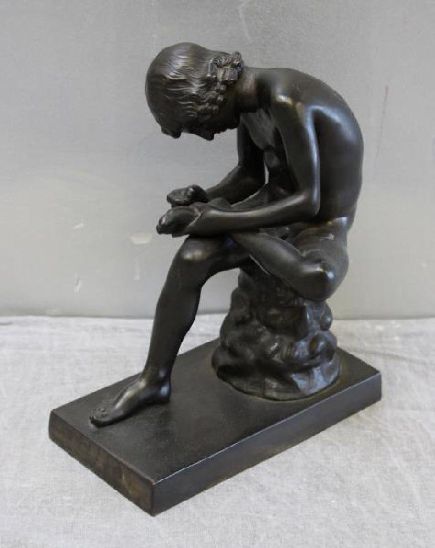 Lot of 10 Patinated Cabinet Bronzes. - 7