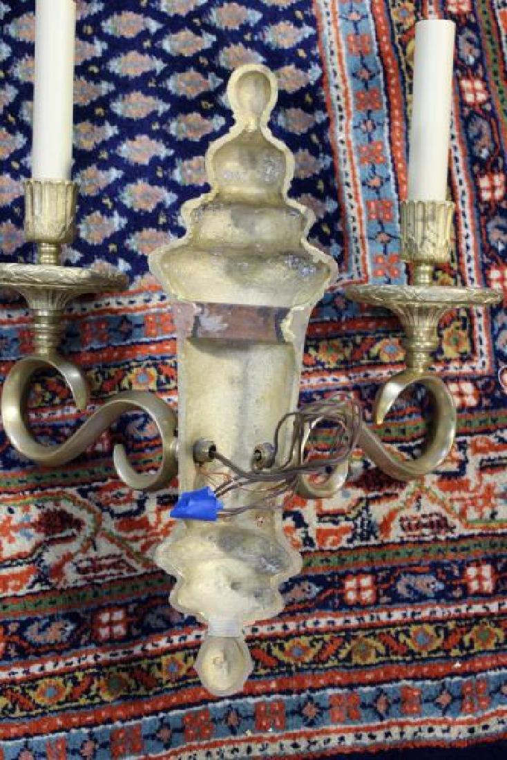 Set of 4 Bronze Urn Form 2 Arm Sconces. - 5