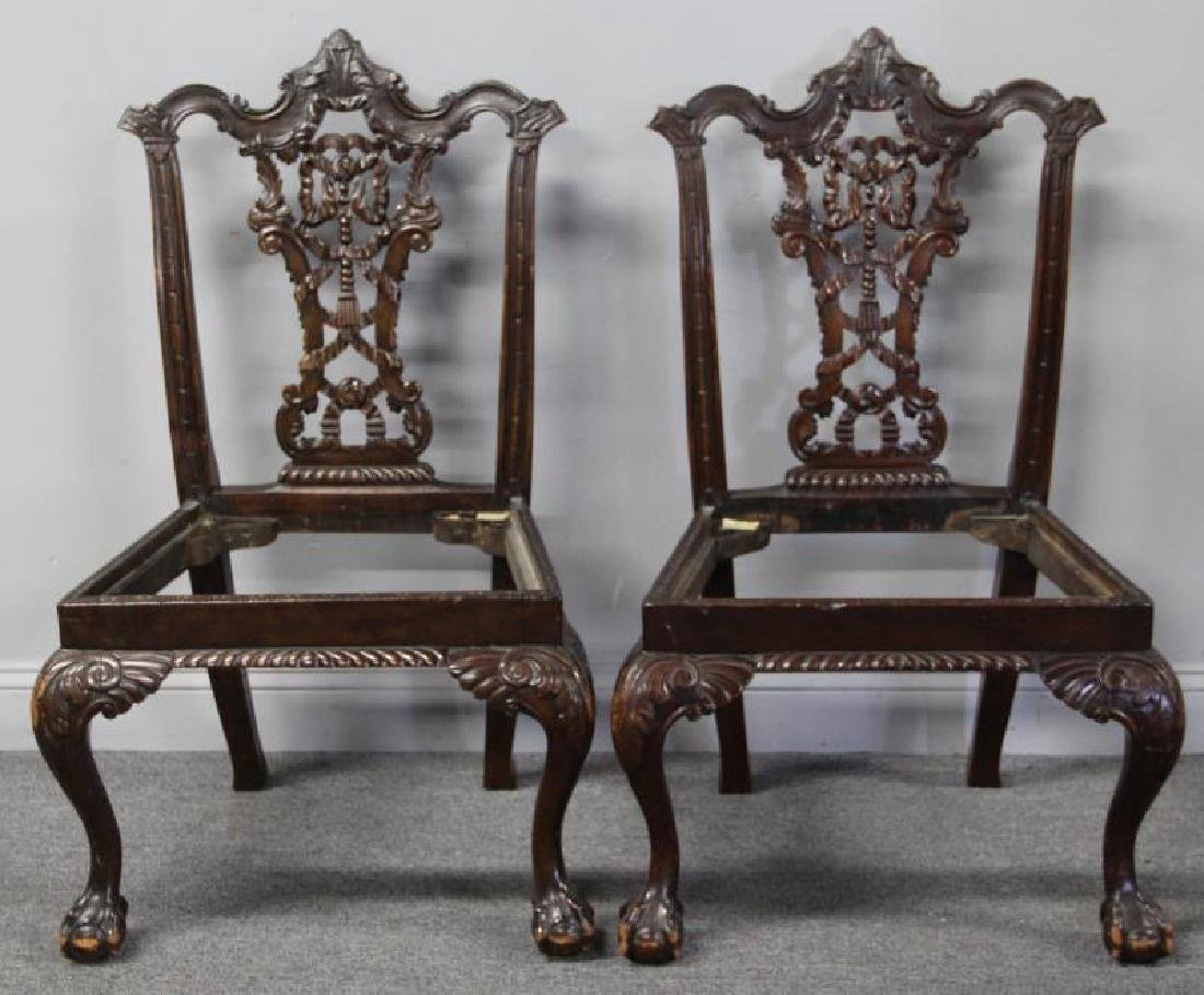 Set Of 8 Finely Carved Antique Mahogany - 2