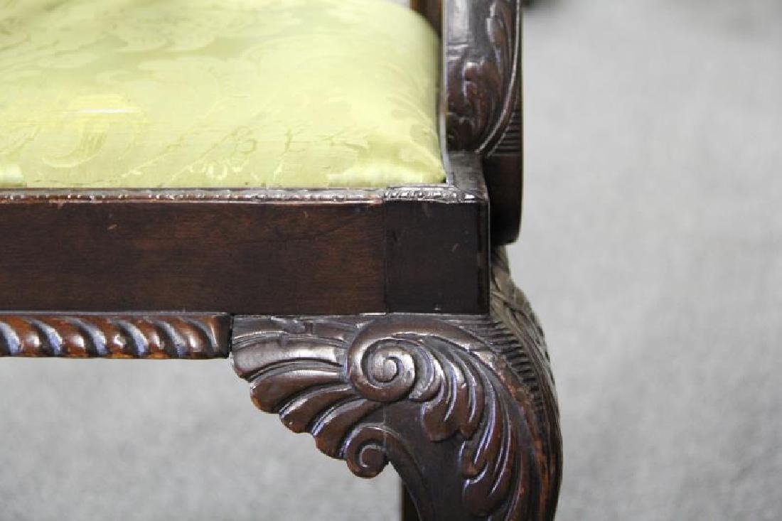 Set Of 8 Finely Carved Antique Mahogany - 7