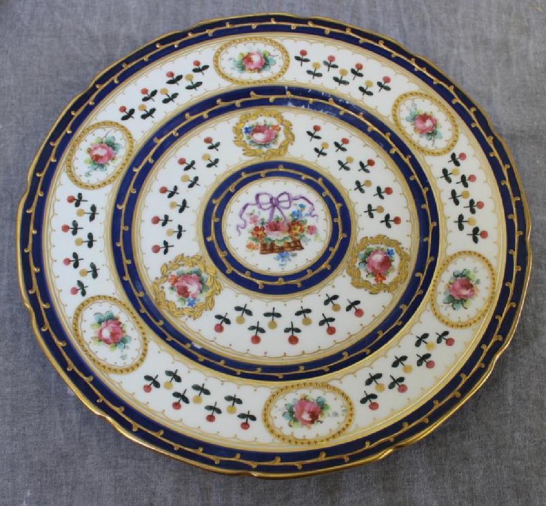 Lot Of 6 Sevres Plates and 12 Unsigned  Painted - 6