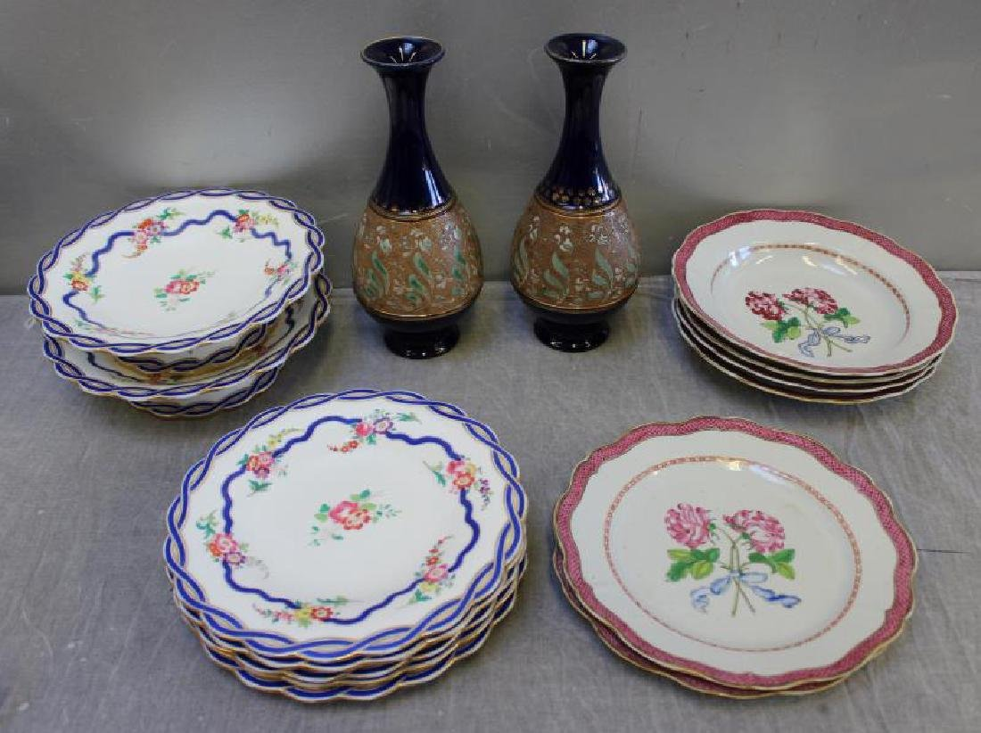 Lot of Assorted Porcelain Plates ,Tazzas and a